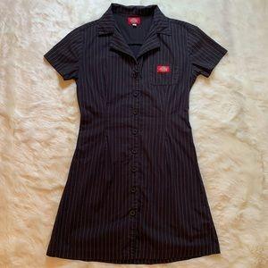 Dickies Pinstripe Button Down Shirt Dress